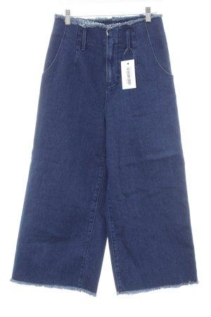 Stradivarius High Waist Jeans dunkelblau Jeans-Optik