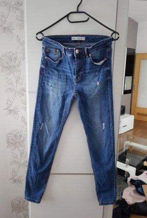 Stradivarius Hoge taille jeans blauw