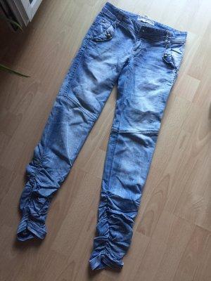 Stradivarius Jeans taille basse bleu azur-bleuet