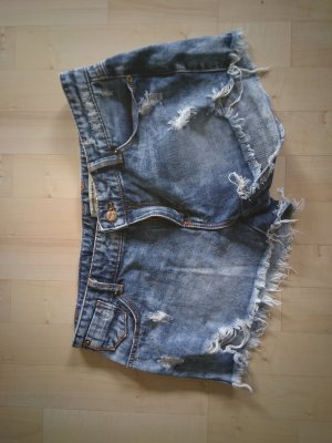 Stradivarius Jeans Shorts destroyes used look