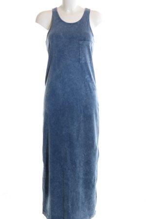 Stradivarius Jerseykleid blau meliert Casual-Look