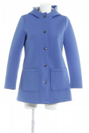 Stradivarius Hooded Coat neon blue casual look