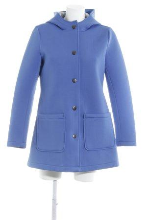 Stradivarius Manteau à capuche bleu fluo style décontracté