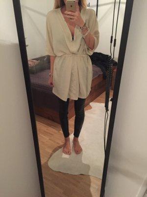 Stradivarius Kleid Dress Oberteil Shirt Top Creme Nude Caramel Beige