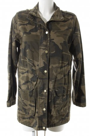 Stradivarius Lange Jacke Allover-Druck Military-Look