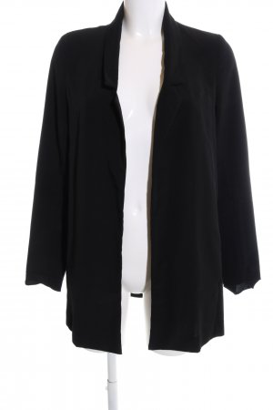 Stradivarius Long-Blazer schwarz Casual-Look