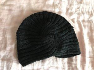 Stradivarius Chapeau en tricot noir