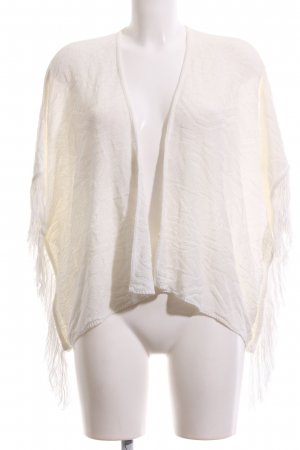 Stradivarius Poncho natural white casual look