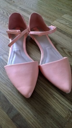 Stradivarius Strapped High-Heeled Sandals nude-light pink leather