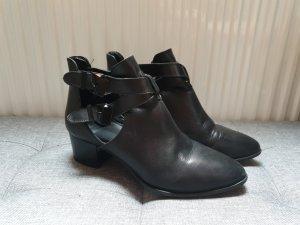 Stradivarius Shoes Damen Stiefeletten offen Pumps schwarz Größe 39