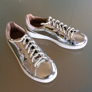 Stradivarius Sneaker glänzend Silber, Gr. 39 (passte mir mit Gr.38)