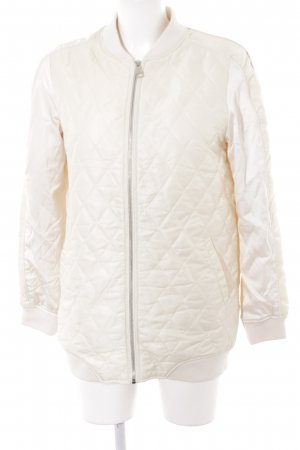 Stradivarius Quilted Jacket cream-natural white athletic style