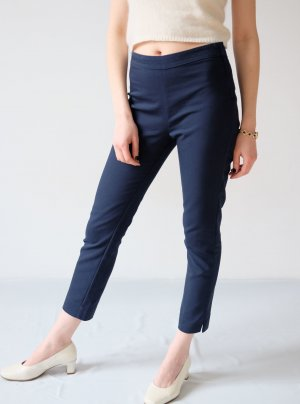 stradivarius stretch röhrenhose highwaist navy S 38