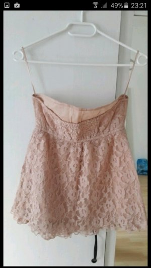 Stradivarius Top in rosa mit Spitze in M