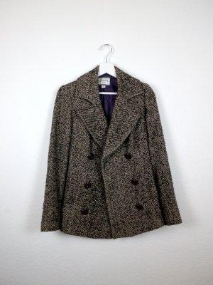 stradivarius winterjacke mantel blazer S 36 38 braun beige business