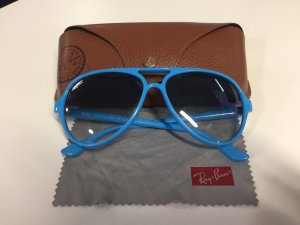 Strahlend blaue Ray Ban Pilotenbrille RB 4125