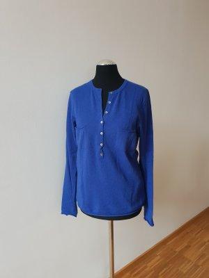 strahlend blauer Oversized-Pulli