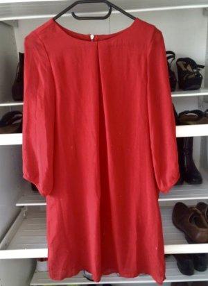 H&M Vestido de manga larga rojo