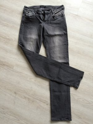 Straight Leg grau-schwarz W30
