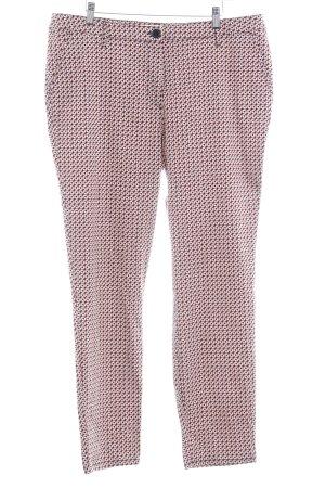 Straight-Leg Jeans abstraktes Muster sportlicher Stil