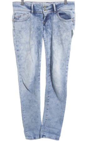 Jeans a gamba dritta blu stile casual