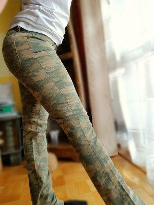 Straight Leg Jeans Denim Carmouflage