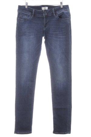 Jeans a gamba dritta blu scuro-blu pallido look pulito