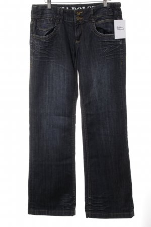 Straight Leg Jeans dark blue casual look