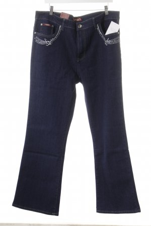 Straight Leg Jeans dark blue casual look