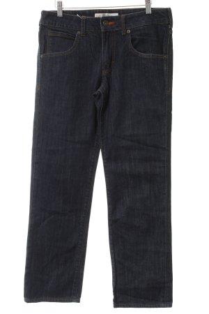 Jeans a gamba dritta blu scuro stile casual