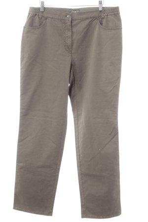 Jeans met rechte pijpen grijs-bruin casual uitstraling