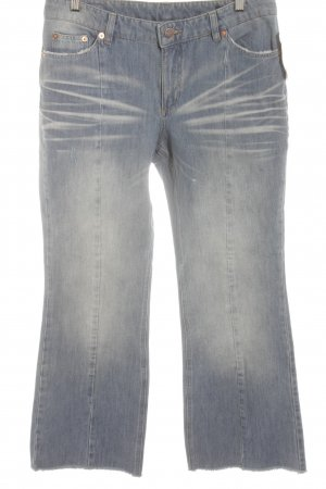 Straight-Leg Jeans himmelblau Used-Optik