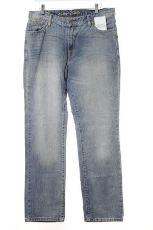Jeans coupe-droite bleuet style décontracté