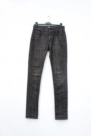 7 For All Mankind Jeans coupe-droite marron clair-gris coton