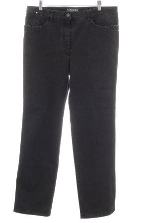 Jeans met rechte pijpen zwart casual uitstraling