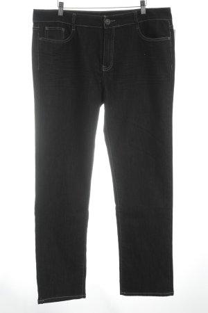 Straight-Leg Jeans schwarz Street-Fashion-Look