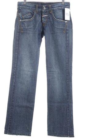 Straight-Leg Jeans stahlblau Jeans-Optik