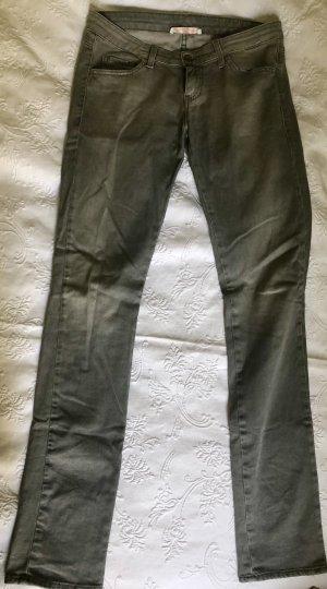 Jeans slim gris coton