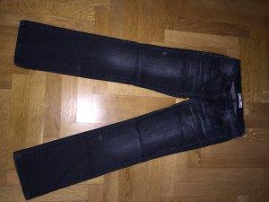 Straight Used Look Jeans W27/L 30 , anthrazit grau mit Stretchanteil