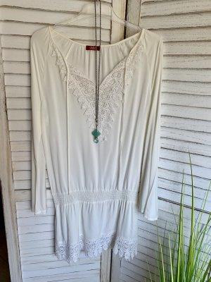 Buffalo Blusa de túnica blanco-crema