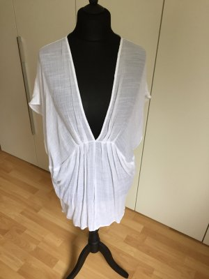 Topshop Tunique-blouse blanc coton
