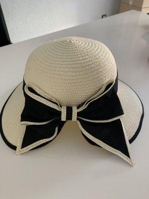 Chapeau de soleil noir-blanc cassé