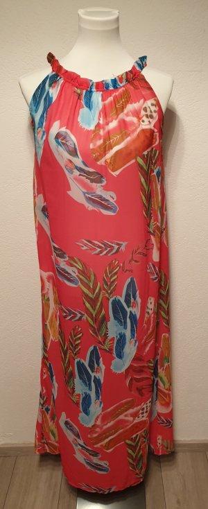 Beach Dress raspberry-red polyester