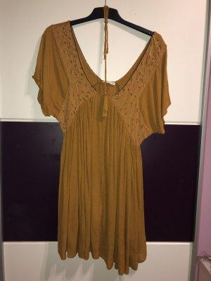 Mango Beach Dress sand brown
