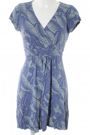 Beach Dress blue-pale blue floral pattern beach look