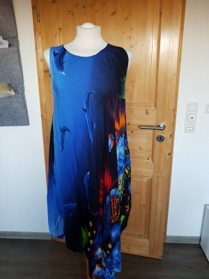 Beach Dress neon blue-dark blue