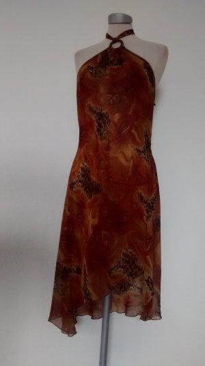 Strandkleid Chiffon african style Gr. L Neckholder Sommer goa hippie ethno