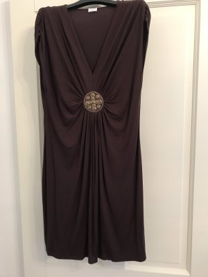 Alba Moda Beach Dress dark brown-gold-colored