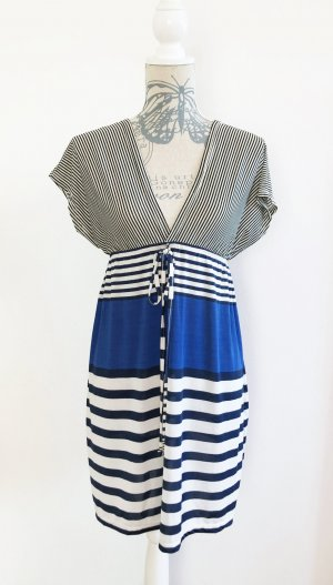 Stretch Dress white-blue