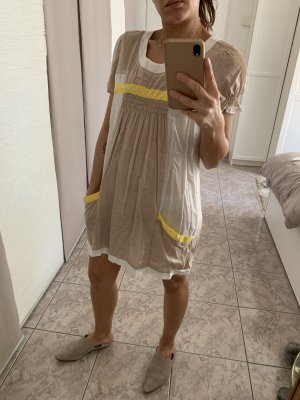 Strandkleid Gr. S in weiß/beige/gelb